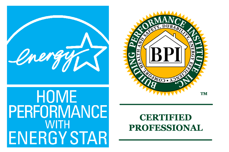 Home Performance with Energy Star and Building Performance Institute logos