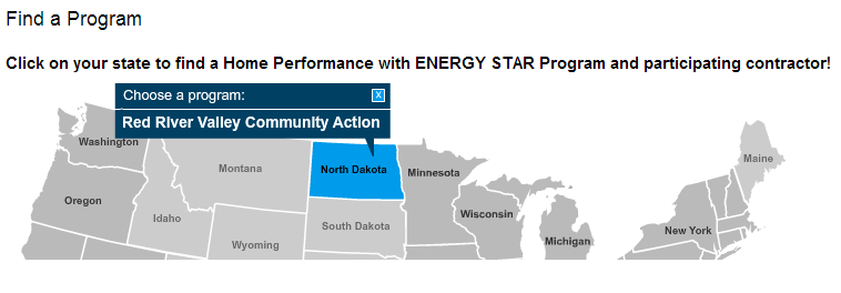 You can find our program listed on Home Performance with ENERGY STAR's Sponsor Directory.