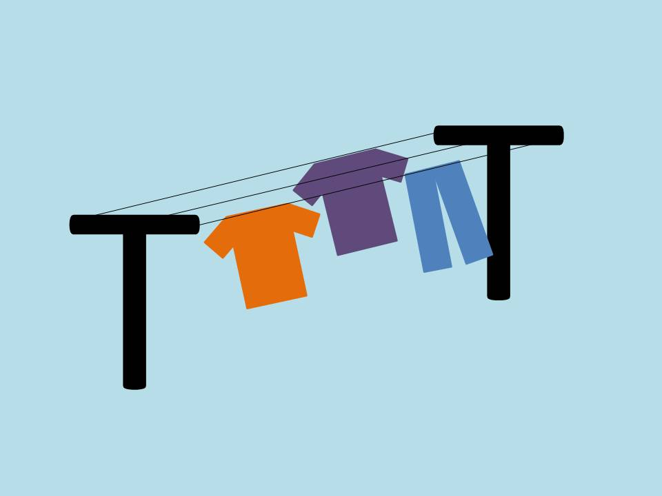 Clothes drying on a clothes line instead of in a dryer - more energy efficient