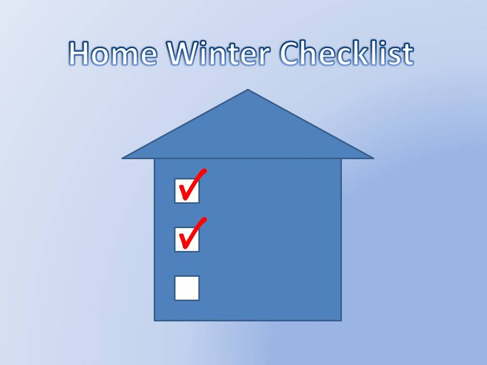 Checklist for things to do for a home before winter